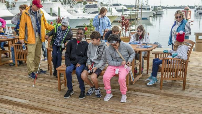 Florida School for the Deaf and Blind students enjoy a day of sailing instruction