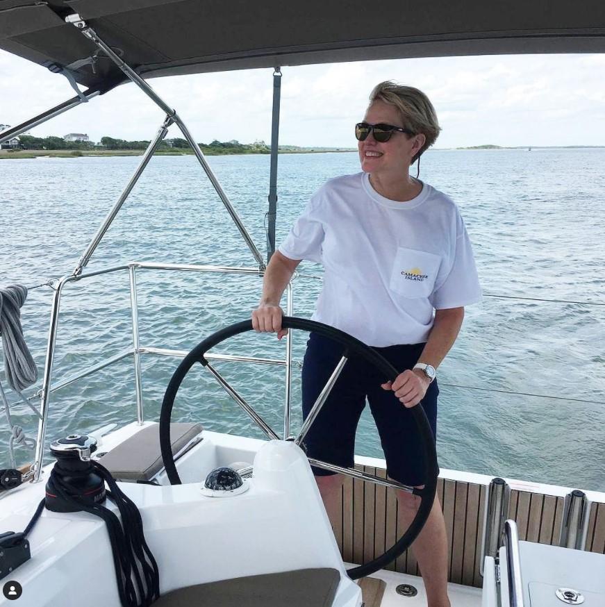 Lady sailing